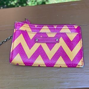 Vera Bradley pink and yellow change purse